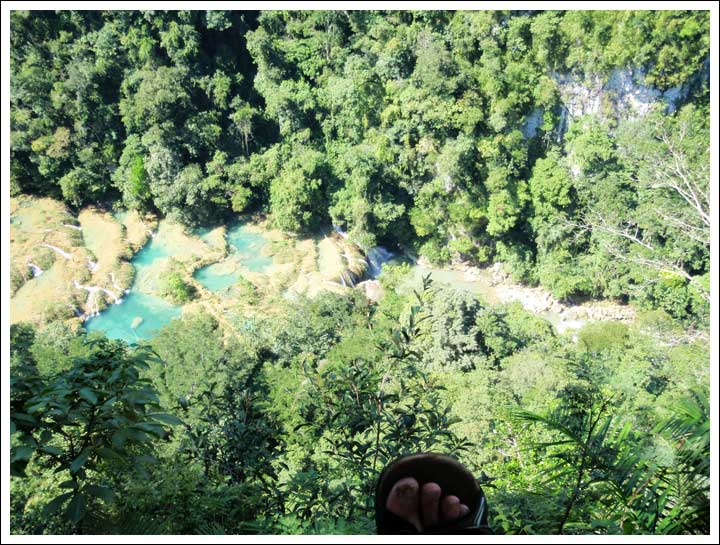 Straight Down to the Pools at Semuc Champey