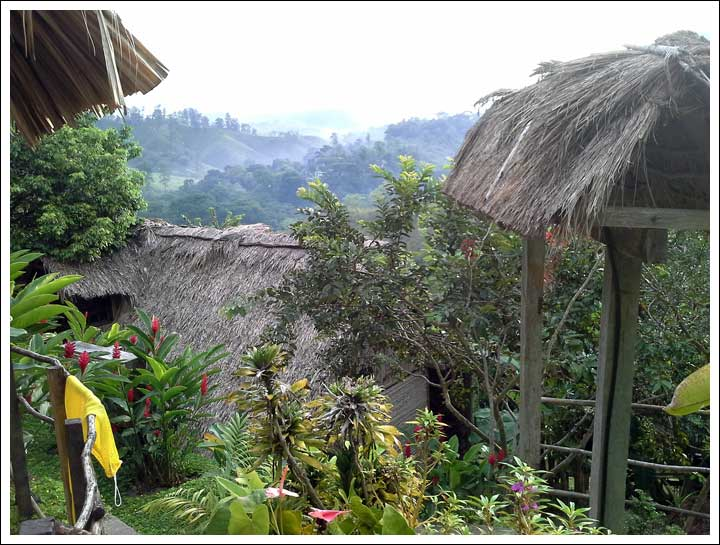 View from Zephyr Lodge after our long, long trip to Lanquin