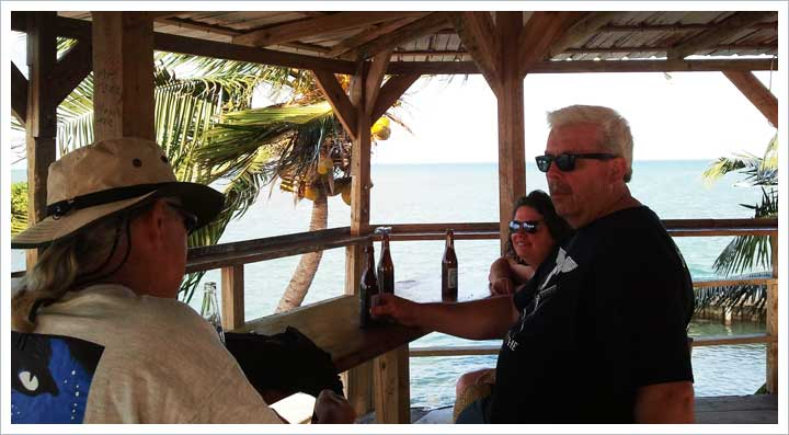 Mark's Old Favorite Bar on Caye Caulker from Years Past with Nazdrovie