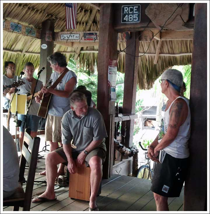 The Lost Reefers and Their Tattooed Groupie at Yoli's in Placencia