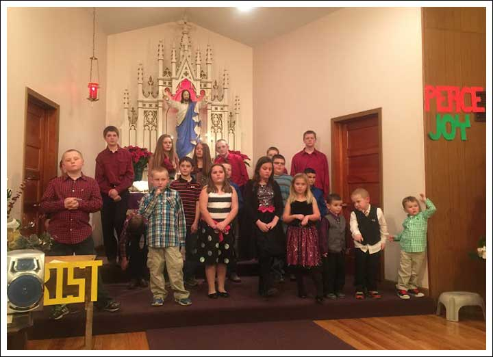 Germantown Country Church Christmas Program (the youngest one on the far right is our grand nephew)