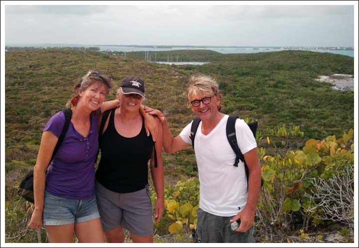 Jacque and Annet on Panache Hiked With Us on the  Island Trails