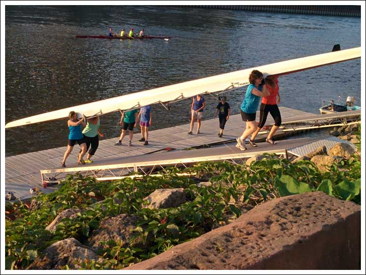 Rowing Buddies on the Mississippi
