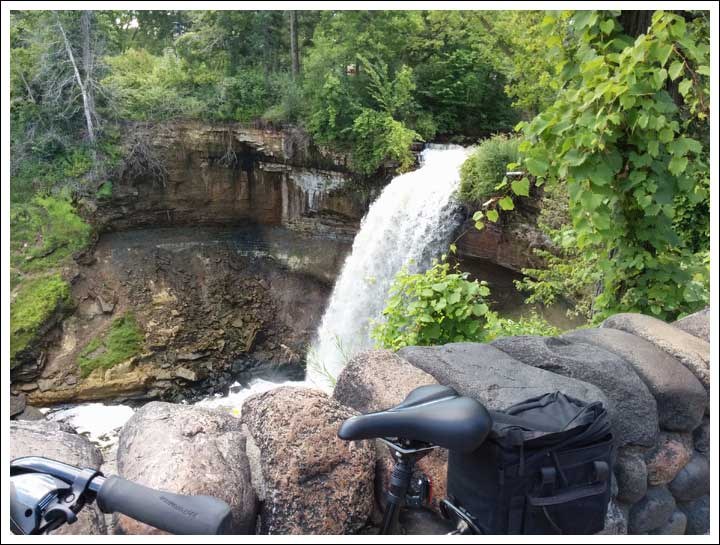 Biking Past Minnehaha Falls