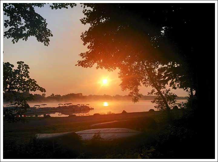 Sunrise in Front of the RV on Chisago Lakes