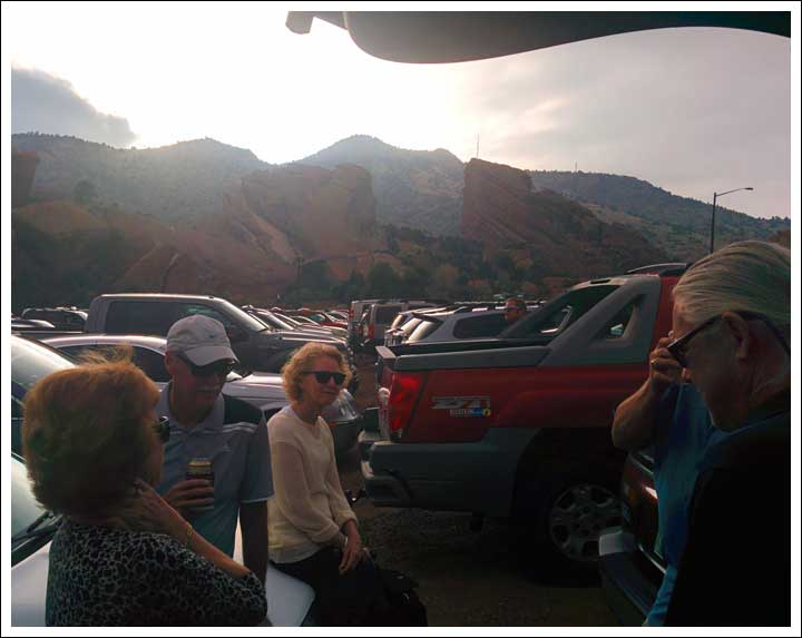 Tailgating Red Rocks Amphitheatre