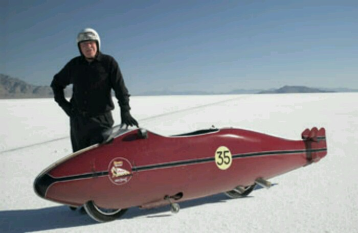 Anthony Hopkins as Burt Munro in World's Fastest Indian