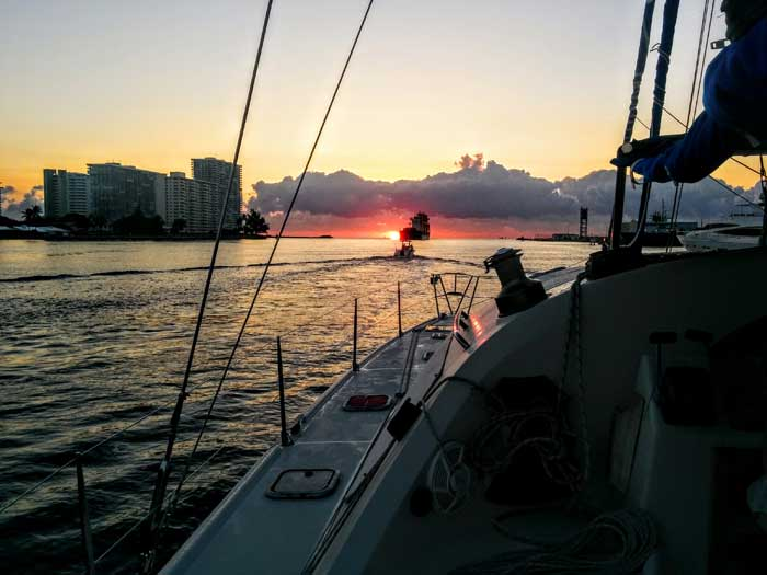 Leaving Ft. Lauderdale at Sunrise - On to Key West