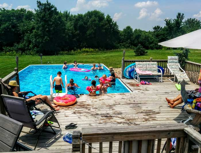 Sunday Pool Day with the Family in Iowa