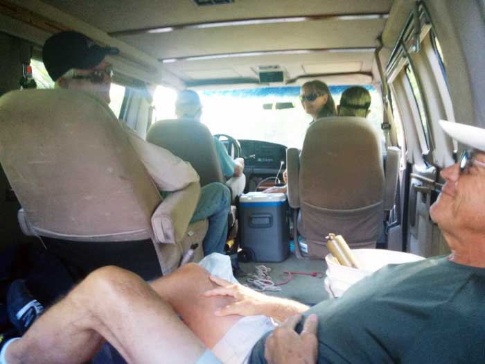 Squeezing Family & Friends into Old Hippy Van