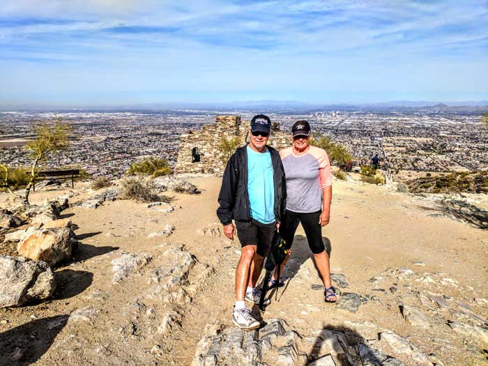 2400 Feet Over Phoenix at South Mountain Park - One More Hike Squeezed In with Ron & Barb