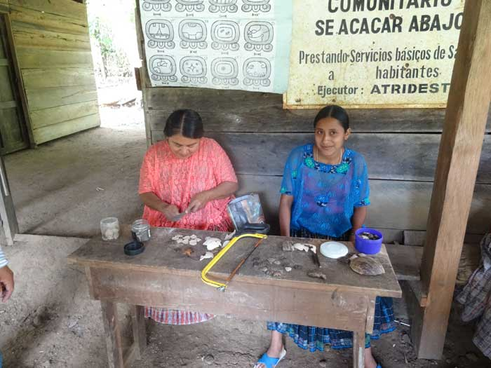 Seacacar Mayan Women's Coop Making Pendants