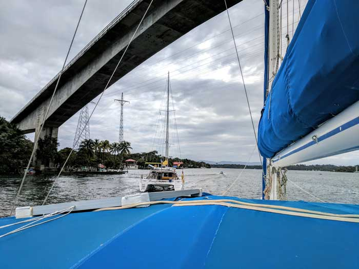 Heading Out Under the Bridge, Flying Fish Takes the Lead