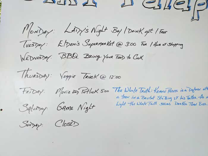 Dirty Dancing Agenda for the Cruisers