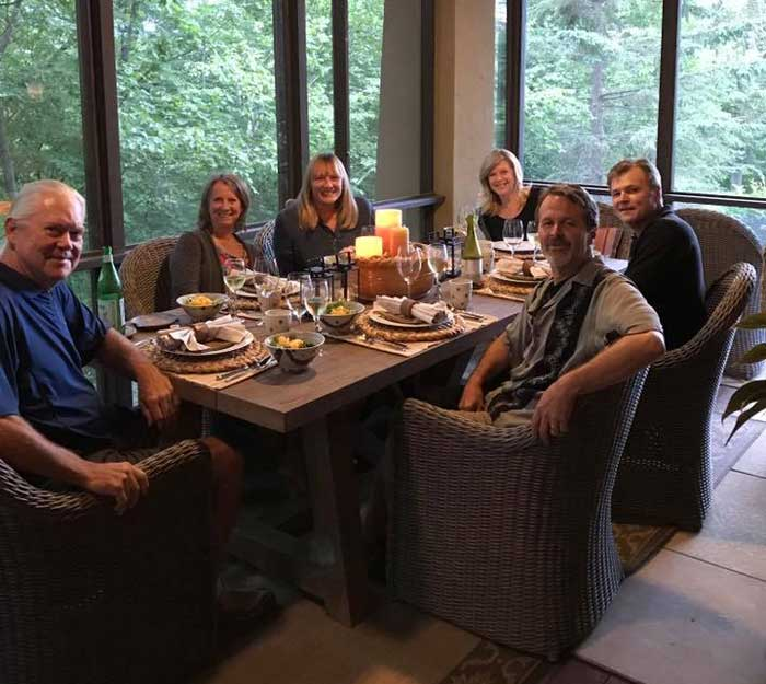 Dinner with Good Friends - Mike, Carole, Tom & Peg in Afton