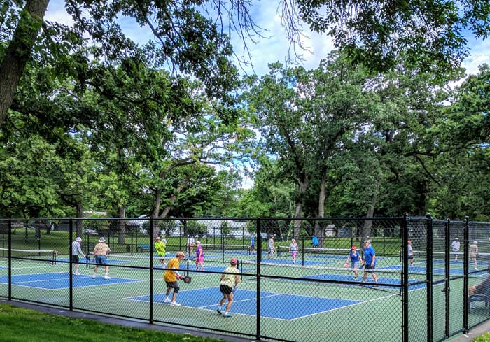 Pickleball in Shawnee Park